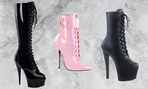 Platform boots for rave, goth, dancer, and festival fashion