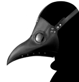 Faux Leather Plague Doctor Mask Edmonton Costume Halloween 2020