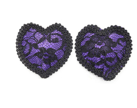 Purple Lace Heart Pasties Edmonton