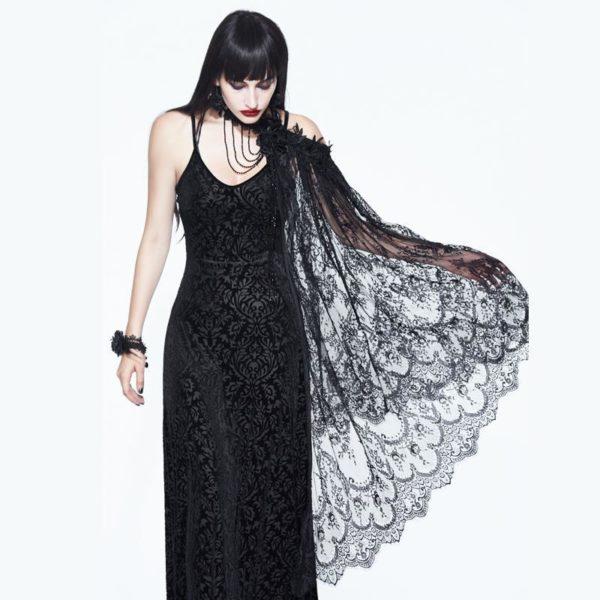 Elegant Lace Cloak Edmonton Gothic Wedding