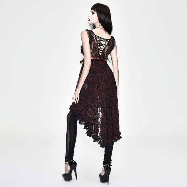 Red Lace Gothic Dress Edmonton Lolita