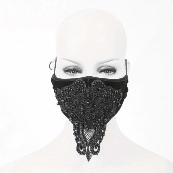 Velvet Beaded Lace Mask Edmonton