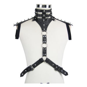 Vegan Leather Harness Edmonton Spikes Skulls