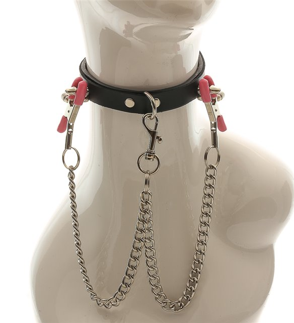 Penis Spike Collar with Nipple Clamps Edmonton BDSM