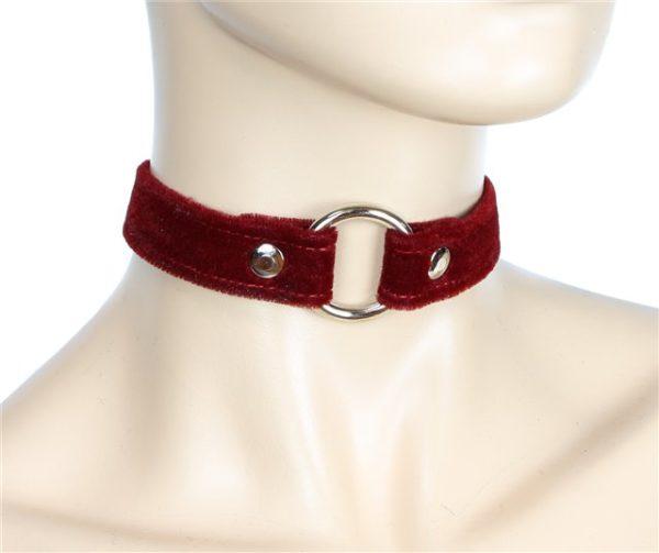 Red Velvet Choker Edmonton Vegan Collar