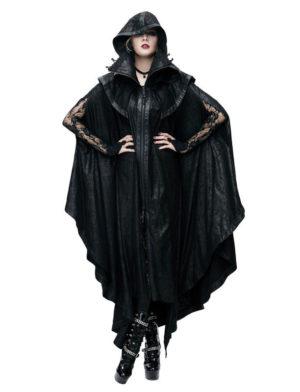 Ominous Faux Leather Cloak Edmonton Men's Gothic Clothing