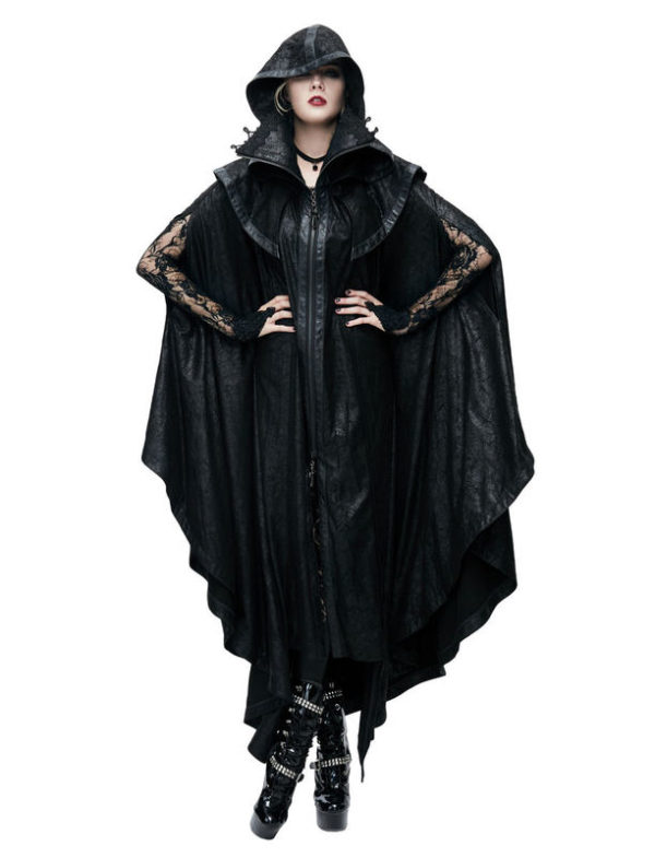 Ominous Faux Leather Cloak Edmonton Men's Gothic Clothing