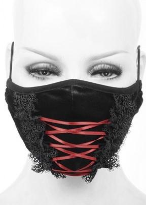 Corset Lacing Velvet Mask Edmonton