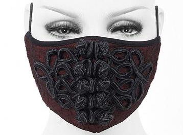 Glamourous brocade fashion mask
