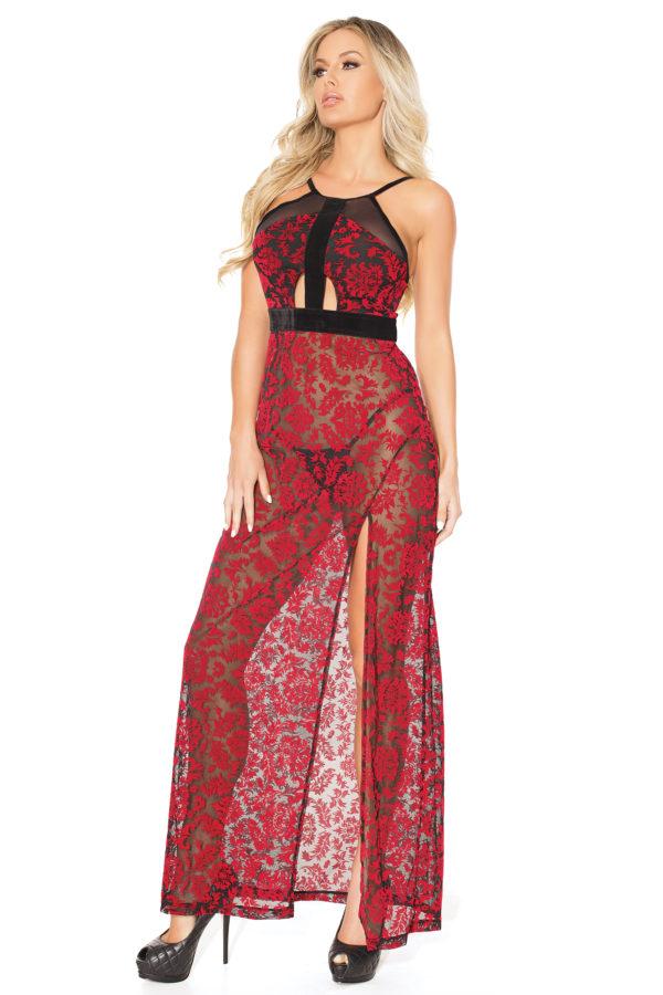 Plus Size Damask Velvet Gown Edmonton
