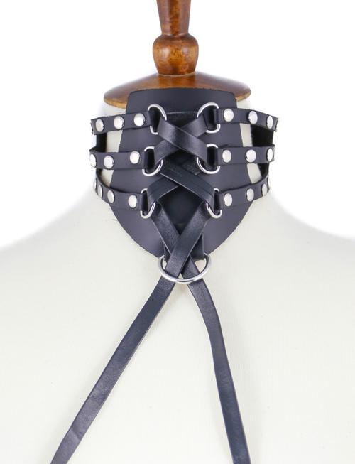 Vegan Leather Posture Collar Edmonton