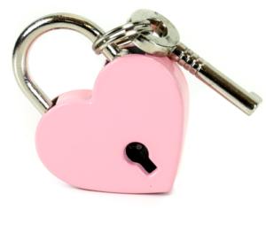 Pink Heart Lock Edmonton