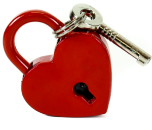 Red Heart Shaped Lock Edmonton
