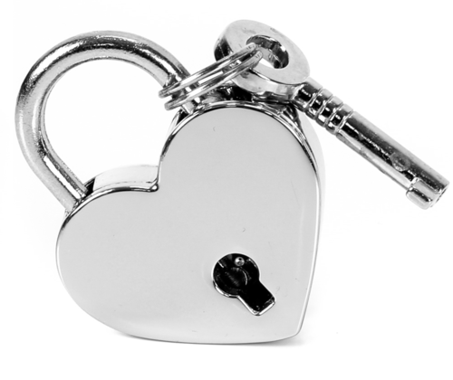 Silver Heart Shaped Lock Edmonton